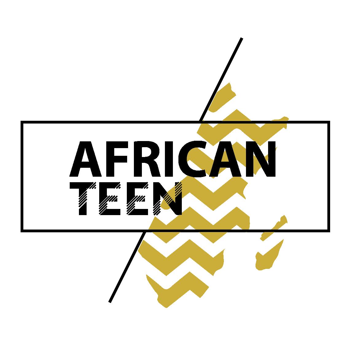 African Teen logo noir